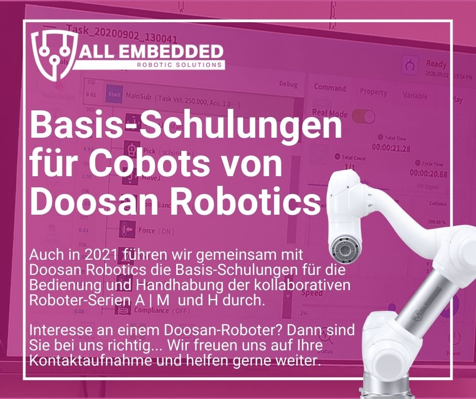 Schulung Doosan Robotics robotertechnik automatisierungstechnik