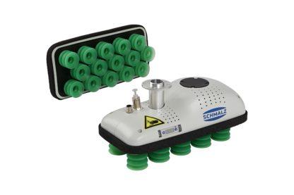 cobotpump pneumatischer Flächengreifer FXCB für Leichtbauroboter Palettierung und Materialhandhabung Kartongreifer
