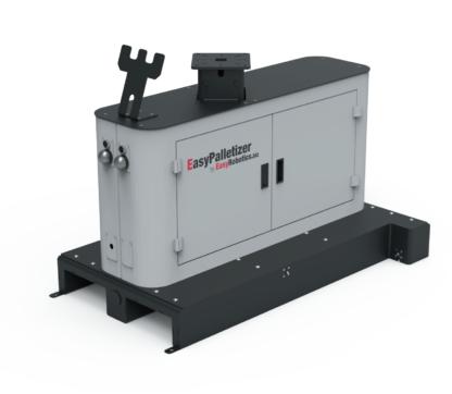 Palettierplattform EasyPalletizer für Doosan Robotics Palettierung h-serie h2017 leichtbauroboter Plattform mit Schaltkasten und Palettenerkennung und Signallampen sowie Teachpanel-Halterung