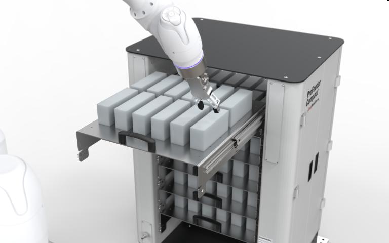 Maschinenbeladung mit Leichtbaurobotern